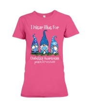 Diabetes Blue  Premium Fit Ladies Tee thumbnail
