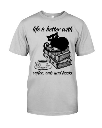 Librarian life is better with coffee cats and book