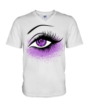 Fibromyalgia V-Neck T-Shirt tile