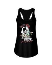 biker wife Ladies Flowy Tank thumbnail