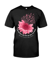 Breast Cancer Flower Classic T-Shirt front