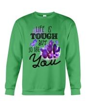 Fibromyalgia Life is tough Crewneck Sweatshirt thumbnail