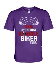 Taken by biker V-Neck T-Shirt thumbnail