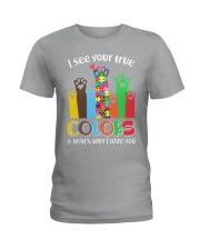 Autism that's why i love you Ladies T-Shirt thumbnail