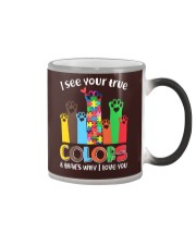 Autism that's why i love you Color Changing Mug thumbnail