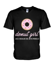 Limited Edition - Donut Girl V-Neck T-Shirt thumbnail