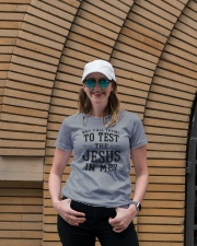 Test the Jesus in me Ladies T-Shirt lifestyle-women-crewneck-front-4