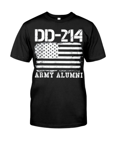 Dd214 Army Alumni Distressed Vintage T Shirt Veter