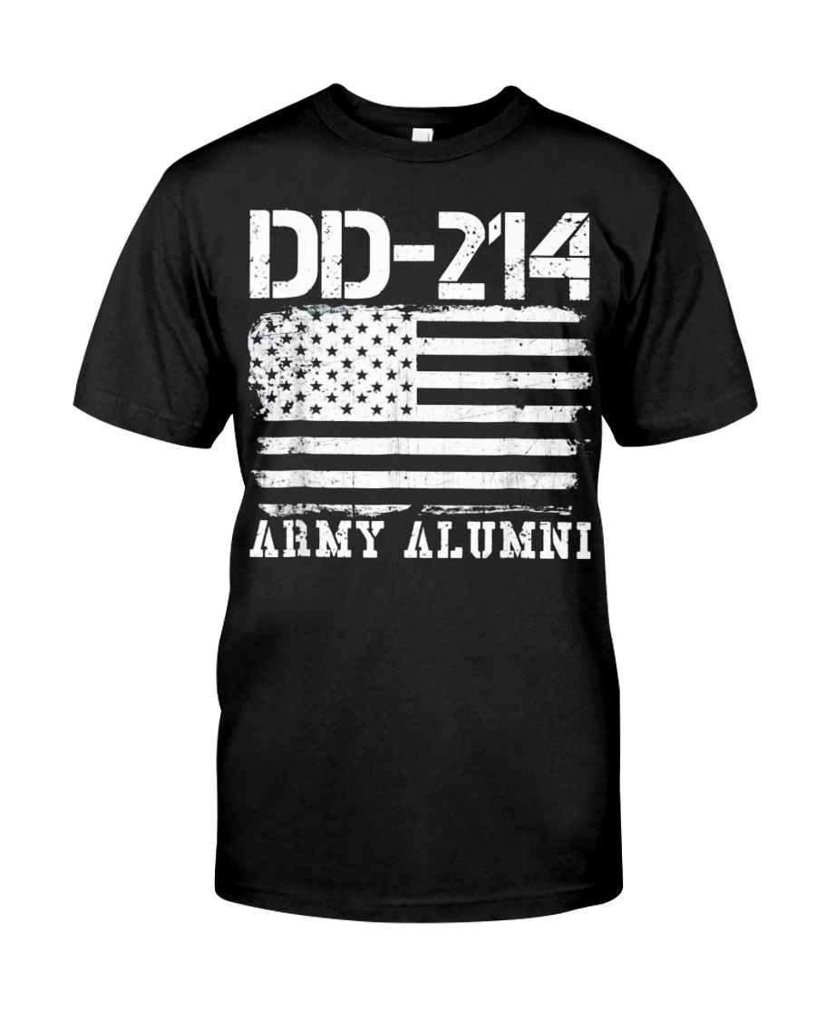 Dd214 Army Alumni Distressed Vintage T Shirt Veter Classic T-Shirt