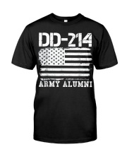 Dd214 Army Alumni Distressed Vintage T Shirt Veter Classic T-Shirt thumbnail
