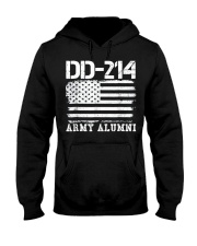 Dd214 Army Alumni Distressed Vintage T Shirt Veter Hooded Sweatshirt thumbnail