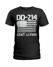Dd214 Army Alumni Distressed Vintage T Shirt Veter Ladies T-Shirt thumbnail