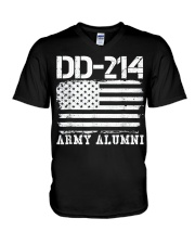 Dd214 Army Alumni Distressed Vintage T Shirt Veter V-Neck T-Shirt thumbnail
