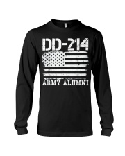 Dd214 Army Alumni Distressed Vintage T Shirt Veter Long Sleeve Tee thumbnail