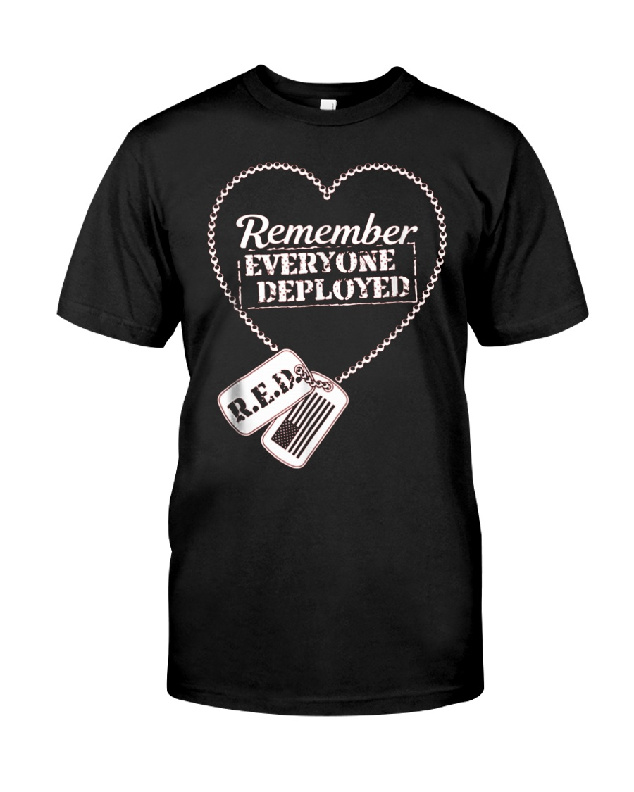 Distressed RED Friday T Shirt Remember Everyone De Classic T-Shirt