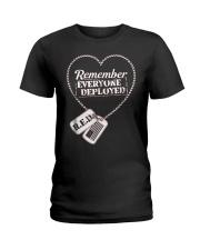 Distressed RED Friday T Shirt Remember Everyone De Ladies T-Shirt thumbnail