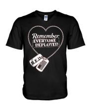 Distressed RED Friday T Shirt Remember Everyone De V-Neck T-Shirt thumbnail