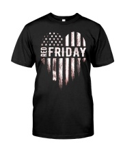 Distressed Red Friday Usa Heart Military T Shirt V Premium Fit Mens Tee thumbnail