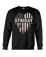 Distressed Red Friday Usa Heart Military T Shirt V Crewneck Sweatshirt thumbnail
