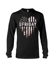 Distressed Red Friday Usa Heart Military T Shirt V Long Sleeve Tee thumbnail