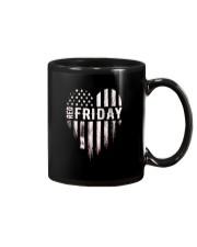 Distressed Red Friday Usa Heart Military T Shirt V Mug thumbnail