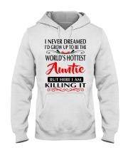 WORLD'S HOTTEST AUNTIE Hooded Sweatshirt front