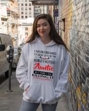 WORLD'S HOTTEST AUNTIE Hooded Sweatshirt lifestyle-unisex-hoodie-front-1