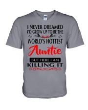 WORLD'S HOTTEST AUNTIE V-Neck T-Shirt thumbnail