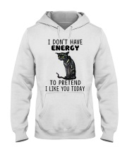 BOOM - I DON'T HAVE ENERGY Hooded Sweatshirt front