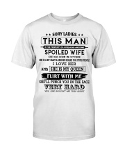 VERSION - THIS MAN IS PROPERTY OF AWESOME WIFE 10 Classic T-Shirt front