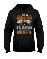 I STOLE HIS LAST NAME Hooded Sweatshirt front