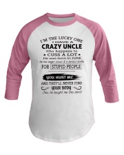 I HAVE A CRAZY UNCLE-JUNE Baseball Tee tile
