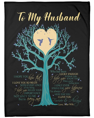 Blanket - To my Husband - hadn