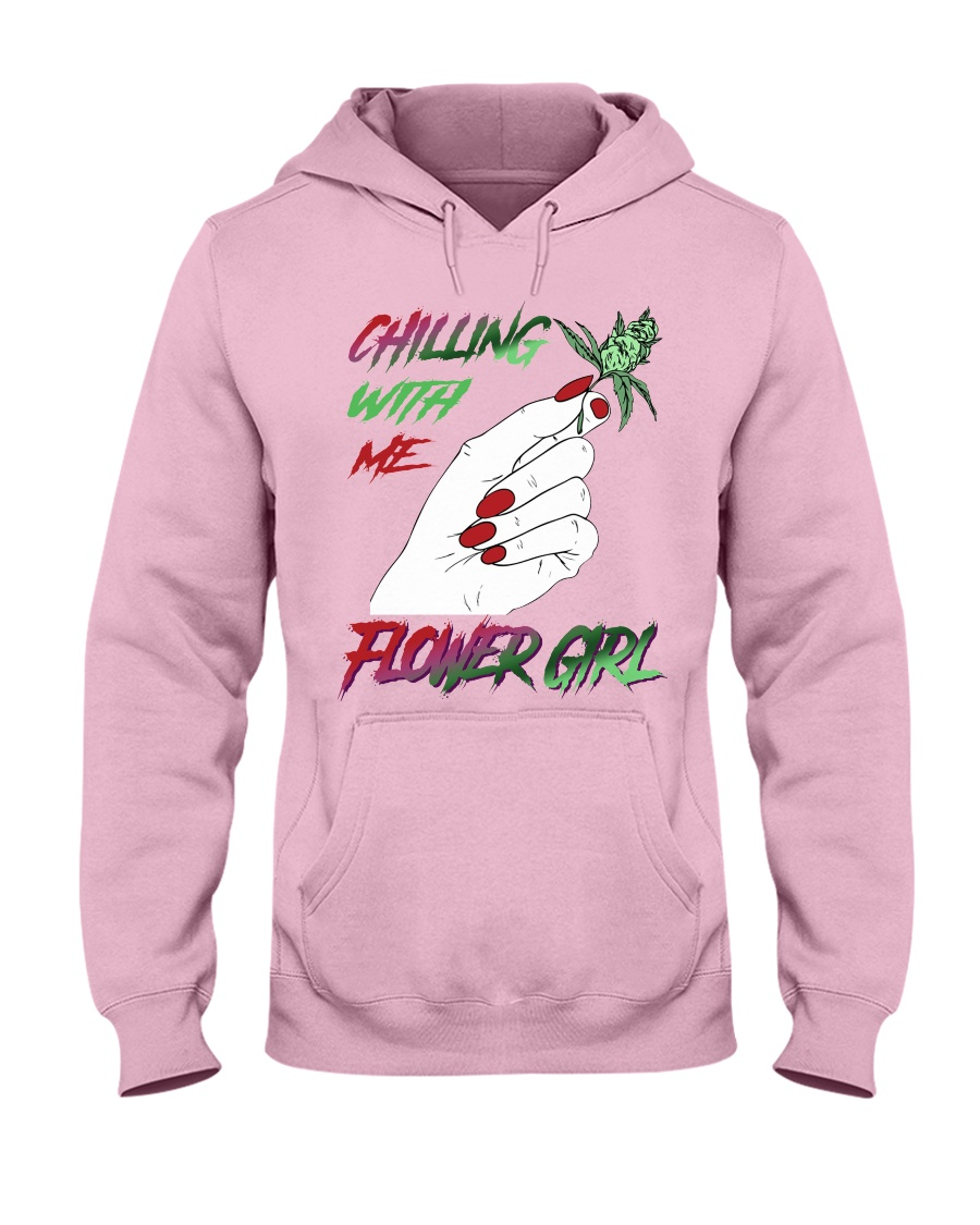 TOM- CHILLING WITH FLOWER GIRL Hooded Sweatshirt