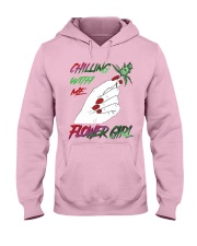 TOM- CHILLING WITH FLOWER GIRL Hooded Sweatshirt front