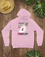 TOM- CHILLING WITH FLOWER GIRL Hooded Sweatshirt lifestyle-unisex-hoodie-front-7