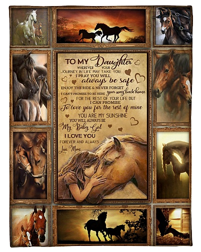 BLANKET - TO MY DAUGHTER - HORSE -  - HTL