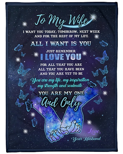 Blanket-To my Wife -You are one and only-HTV