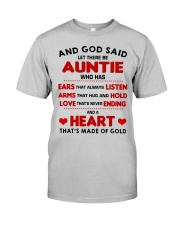 AND GOD SAID LET THERE BE AUNTIE Classic T-Shirt thumbnail