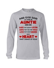 AND GOD SAID LET THERE BE AUNTIE Long Sleeve Tee thumbnail
