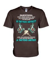 TATTOO ARTIST V-Neck T-Shirt thumbnail