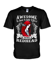 BEING A REDHEAD IS AWESOME - LIMITED V-Neck T-Shirt tile