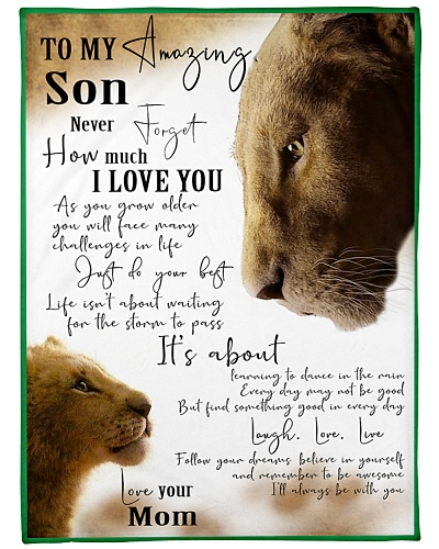 Blanket-Lion-To my amazing Son - HTV