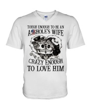 CRAZY ENOUGH TO LOVE MY ASSHOLE V-Neck T-Shirt thumbnail