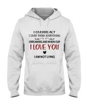 I LOVE YOU  Hooded Sweatshirt front