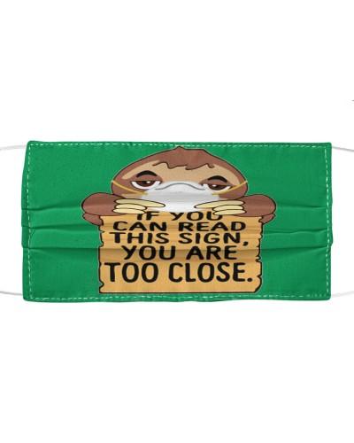 Fabric Mask Sloth