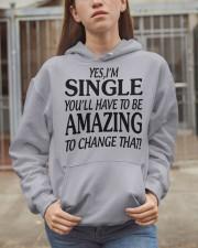 I AM SINGLE  Hooded Sweatshirt apparel-hooded-sweatshirt-lifestyle-07