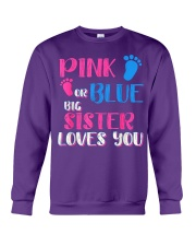 PINK OR BLUE BIG SISTER LOVES YOU Crewneck Sweatshirt thumbnail