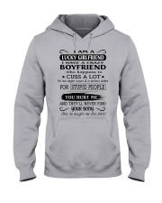LUCKY GIRLFRIEND - CRAZY BOYFRIEND Hooded Sweatshirt front