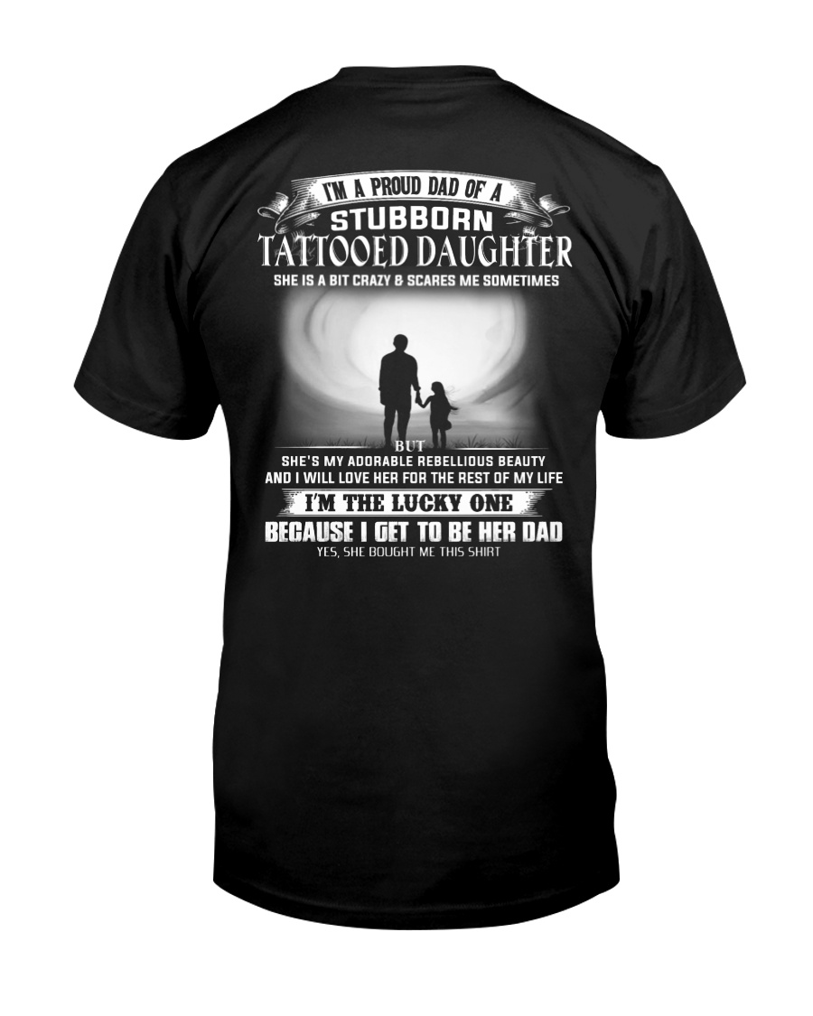 STUBBORN TATTOOED DAUGHTER THACH Premium Fit Mens Tee